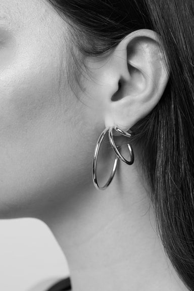 Triple Hoop Earrings - Sterling Silver