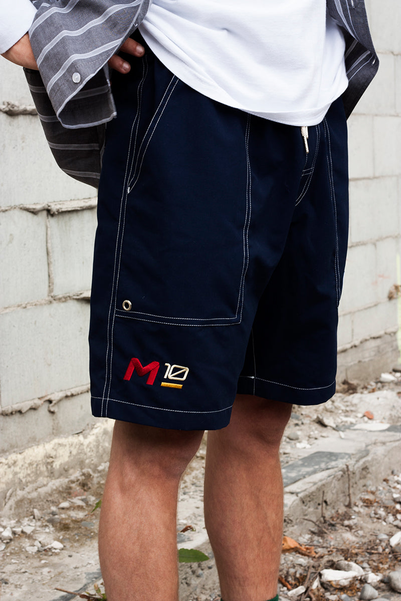 MP-800-M3 - Embroidered Sailing Shorts - Navy