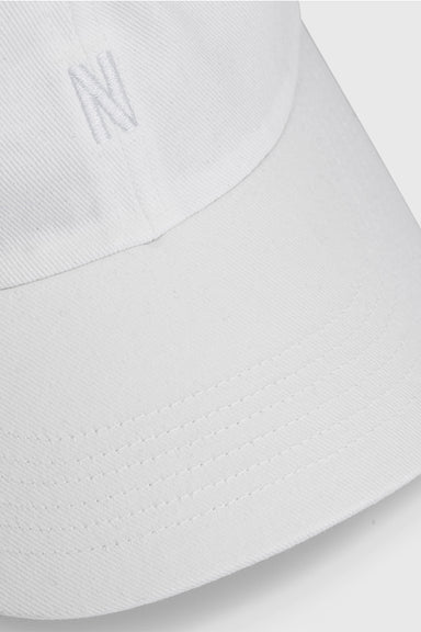 Twill Sports Cap - White