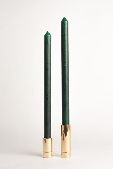 330mm Household Tapers - Hunter Green
