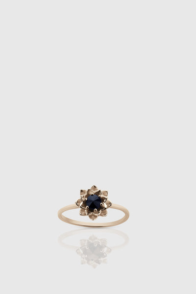 Protea Stone Stacker Ring - 9ct Rose Gold/Midnight Sapphire