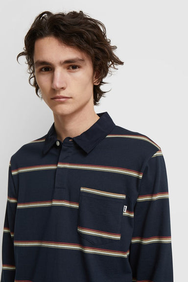 Beck Polo Long Sleeve - Navy Stripe