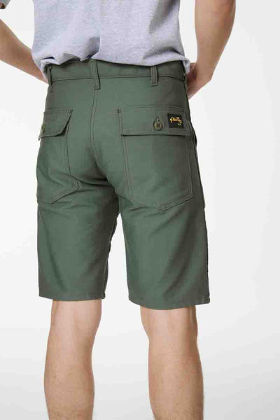 Four Pocket Short - Olive Sateen
