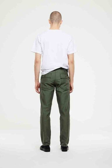 Slim Fit Four Pocket Fatigue - Olive Sateen