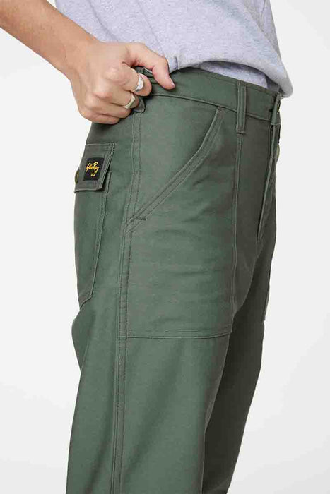 Taper Fit Four Pocket Fatigue - Olive Sateen