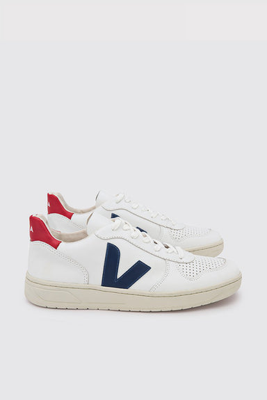 V-10 Leather - Extra White / Nautico Pekin
