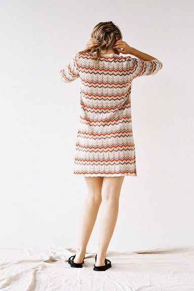 Ziggy Mini Dress - Pale Zig Zag