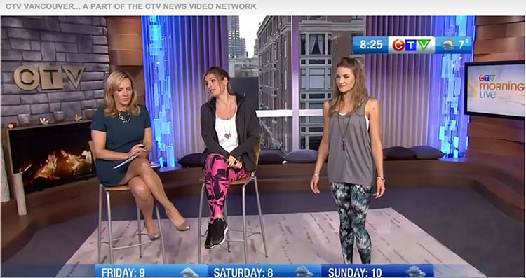 CTV Feature Karma Active Wear on Morning Live