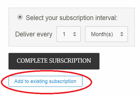 add to existing subscription