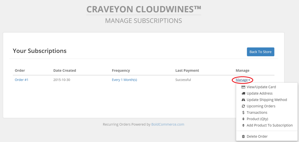 Manage My Wine Subscriptions