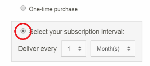 select your subscription interval