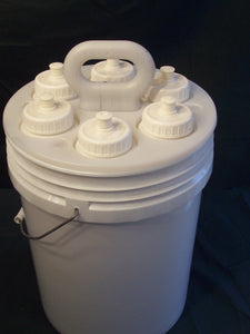 Magic Bucket with 6 Water Bottles and 5 Gallon Bucket