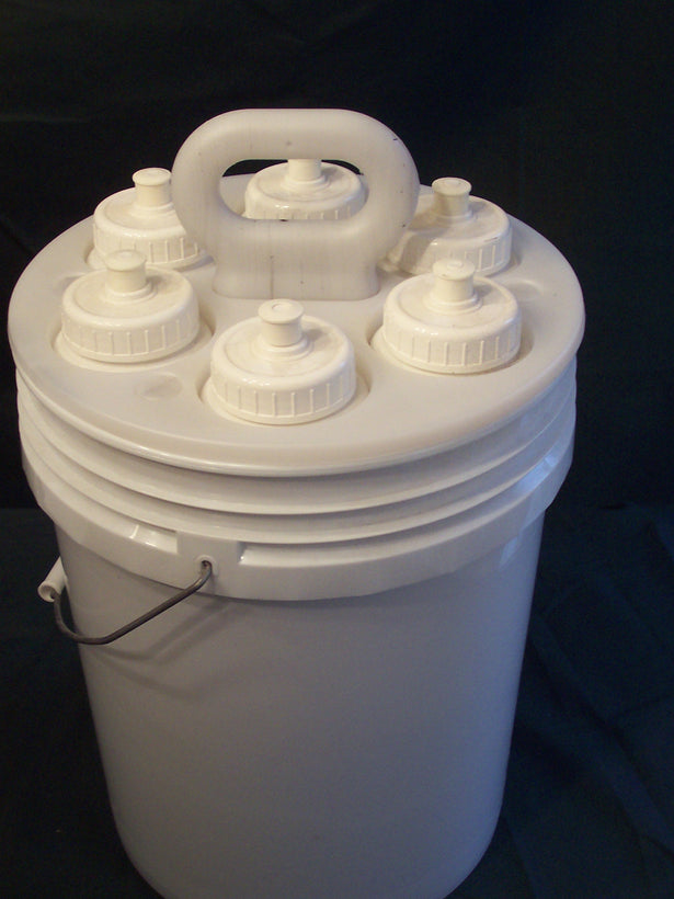 Water Bottle Holder & Bottles & 5 Gallon Bucket