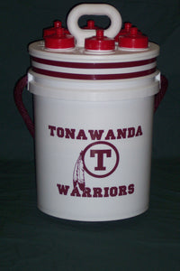 Magic Bucket with 6 Water Bottles and 5 Gallon Bucket - Includes Team Logo