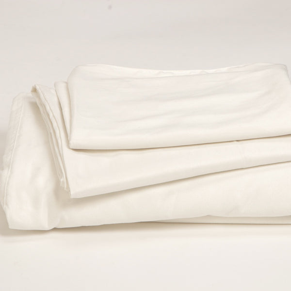 FRESH CREAM<br>3pc FITTED SHEET SET<br>California King / King / Queen