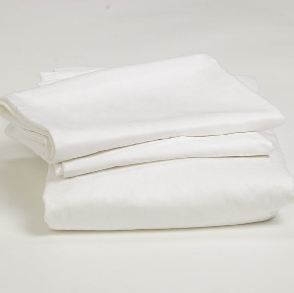 THE ALL WHITE<br>3pcs FITTED SHEET SET<br>California King / King / Queen