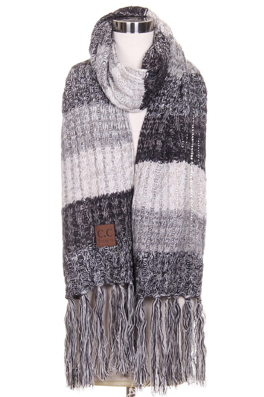 C.C Scarf in Black/White