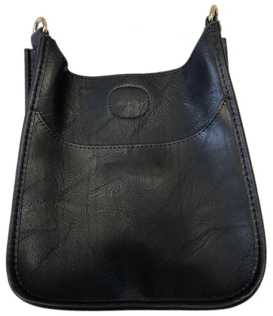 Black Mini Vegan Leather Messenger Bag