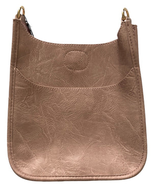 Blush Mini Vegan Leather Messenger Bag