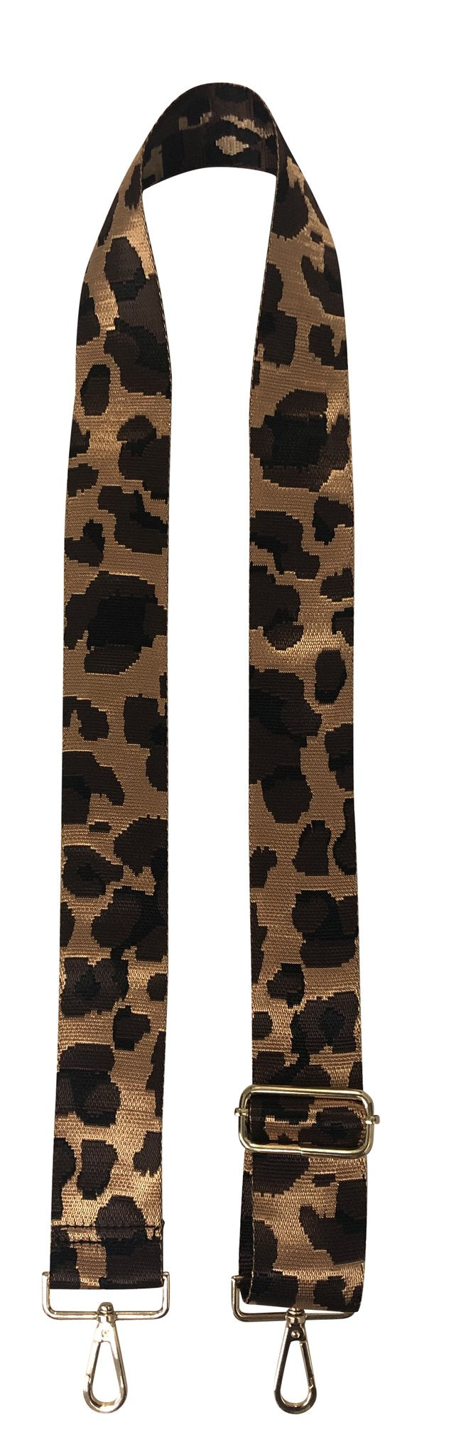 Brown Leopard Bag Strap
