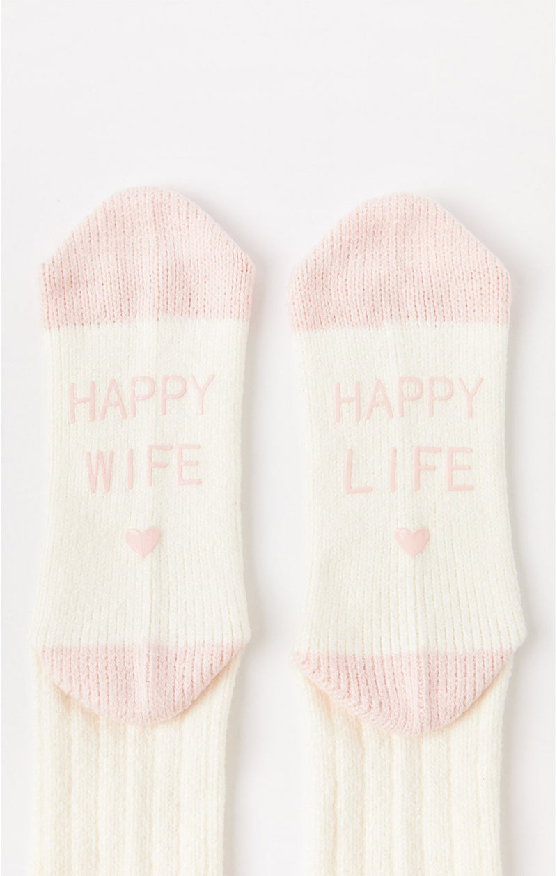 Happy Wife Happy Life Socks