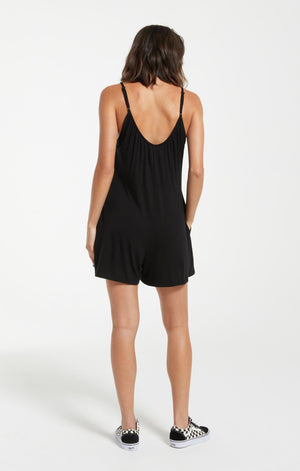 Sleek Romper in Black
