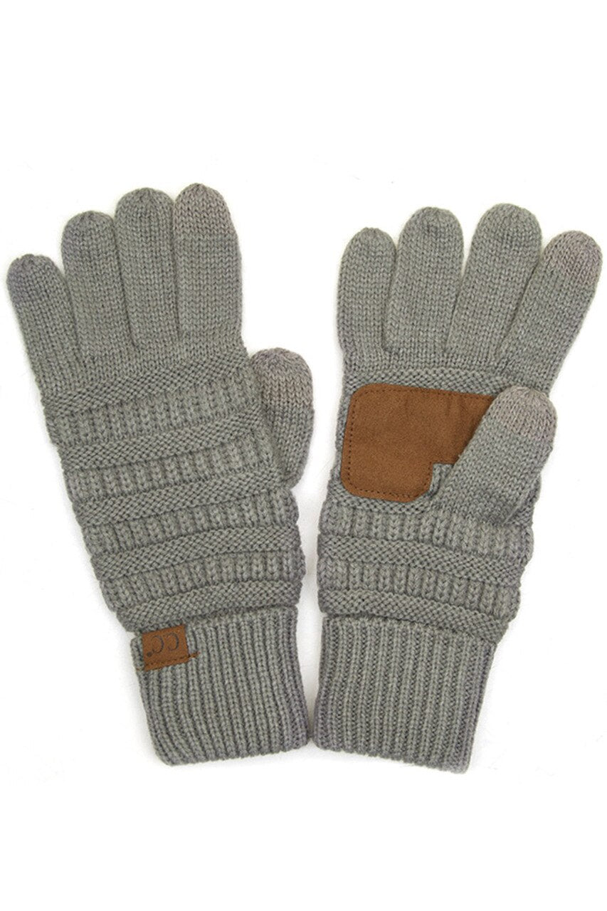C.C Gloves in Light Grey