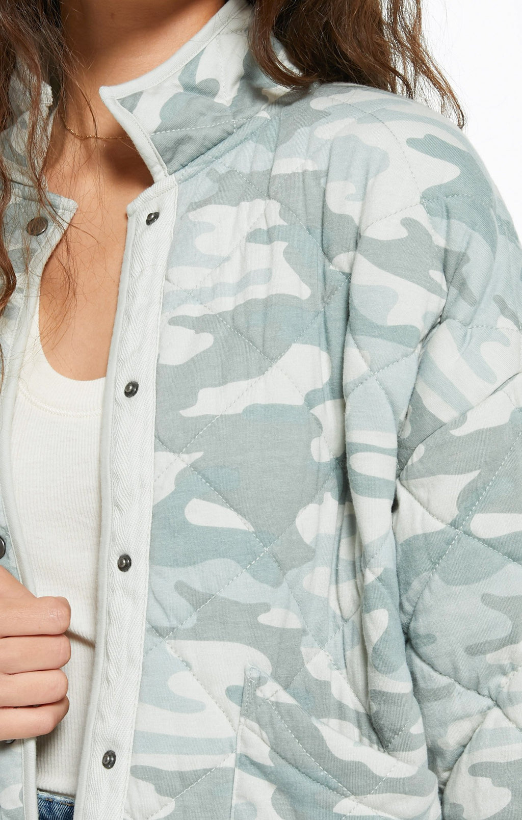 Quilted Jacket in Camo