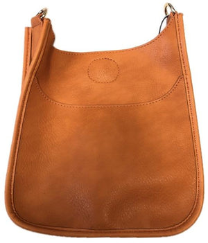 Orange Mini Vegan Leather Messenger Bag