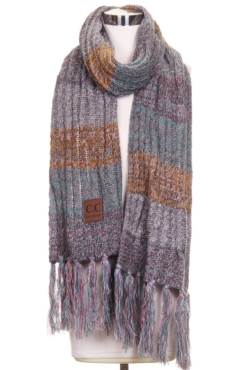 C.C Scarf in Rose/Mint