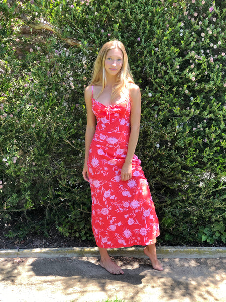 Calypso Coral Floral Dress