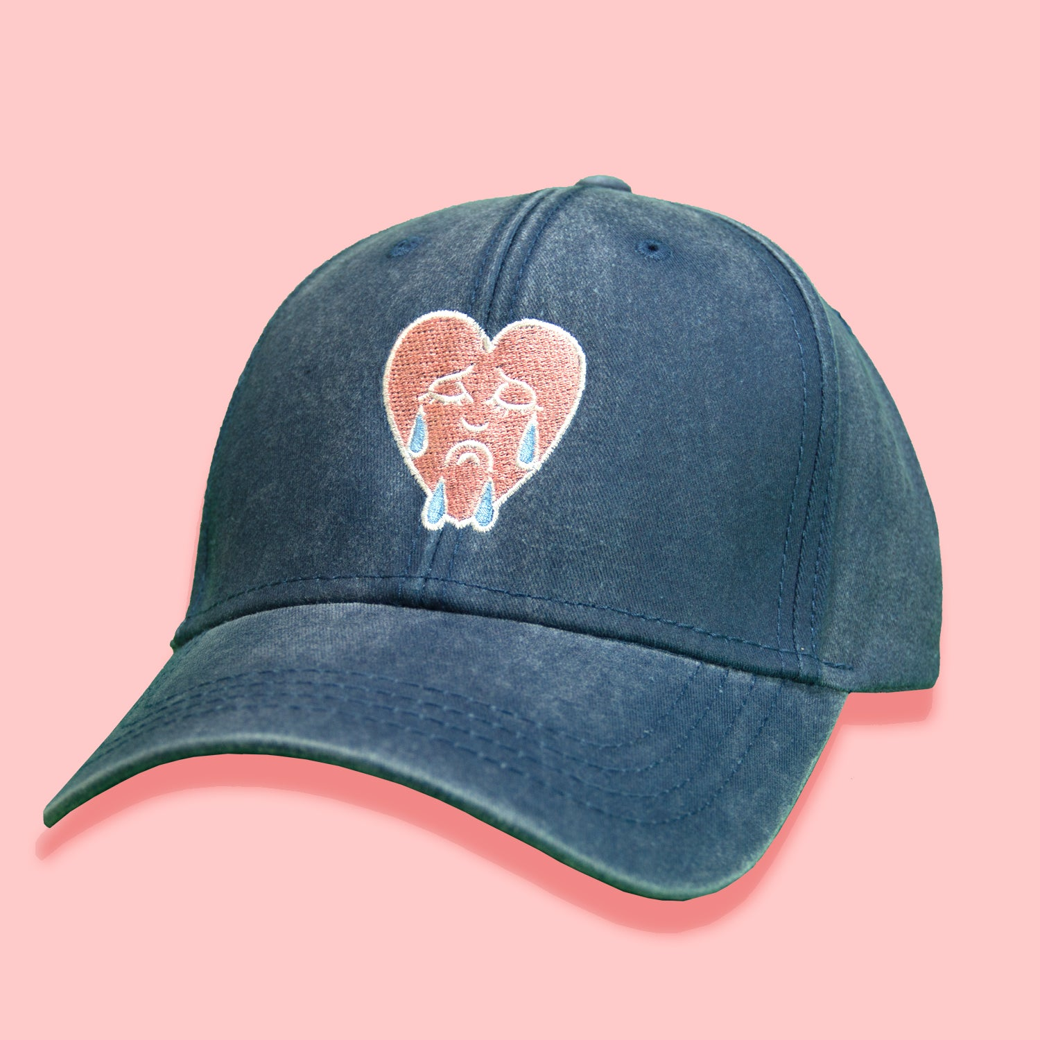 CRYING HEART DENIM HAT