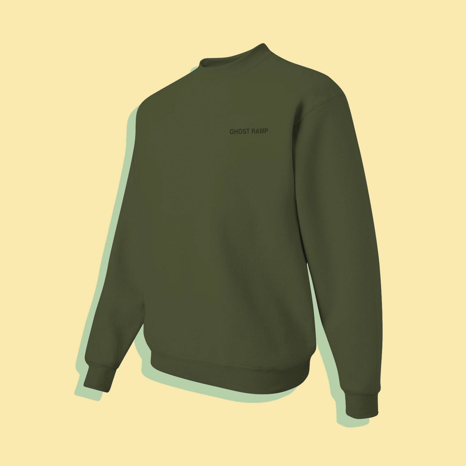 GHOST RAMP CREWNECK - MILITARY GREEN