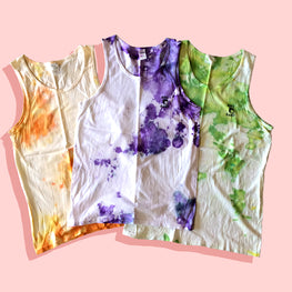 ROLL AWAY TIE DYE TANK TOP (SIZE M & L)