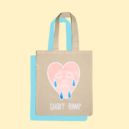 CRYING HEART TOTE BAG