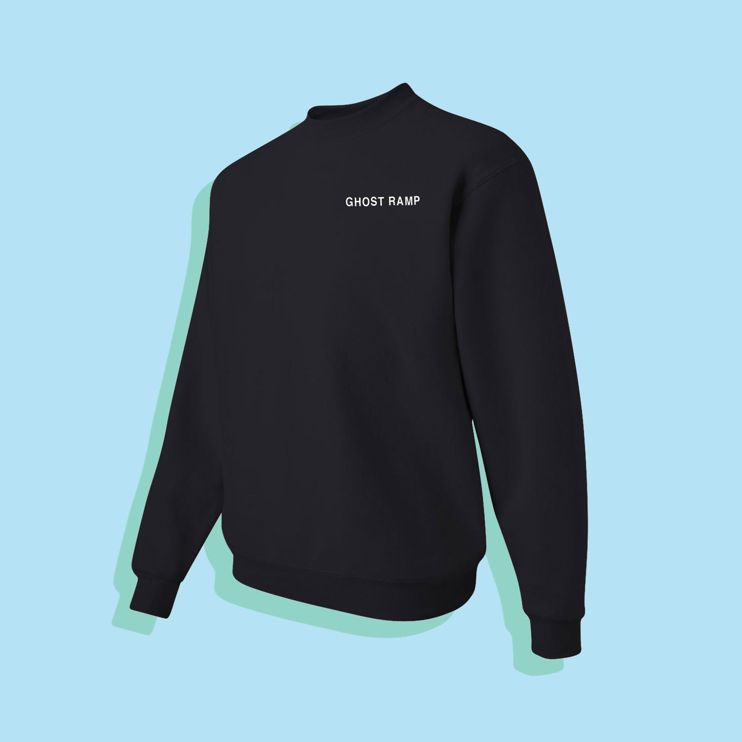 GHOST RAMP CREWNECK - BLACK