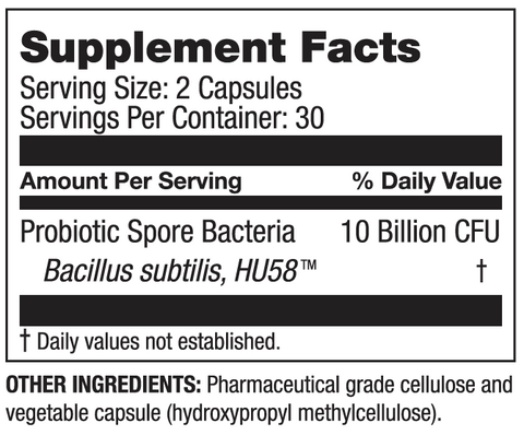 HU58 Supplement Facts