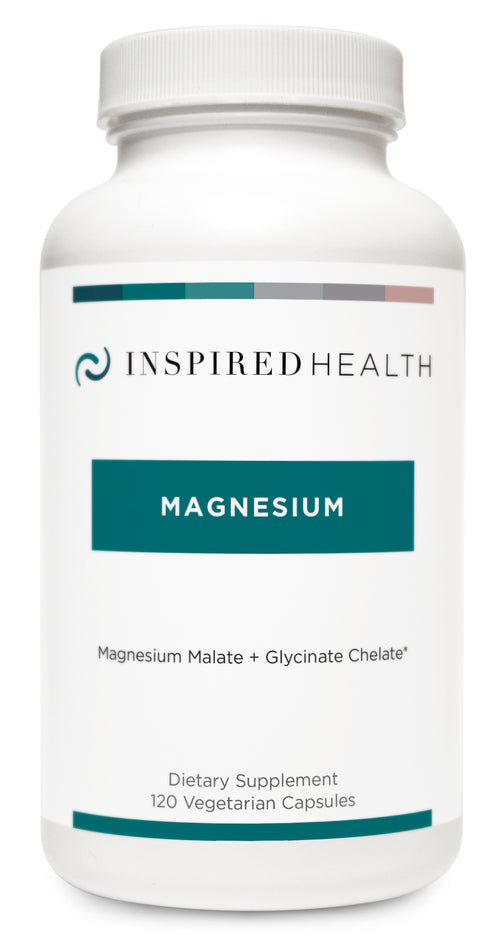 Magnesium (120 caps) - Inspired Health Apothecary - Insomnia, Sleep Support, Anxiety, Muscle Pain, Muscle Tension