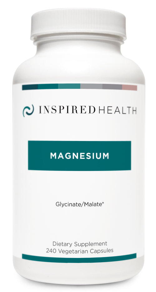 Magnesium (240caps) - Inspired Health Apothecary - Anxiety, Muscle Cramps, Muscle Tension, Insomnia, Sleep Support