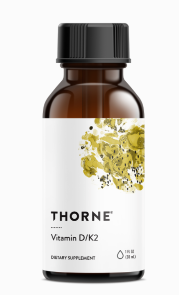 Vitamin D/K2 (Thorne) - Inspired Health Apothecary