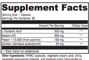 Gastric Acid - Inspired Health Apothecary - Betaine HCL, SIBO, Small Intestine Bacterial Overgrowth