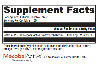 Methyl B12 - Inspired Health Apothecary - Methylcobalamine