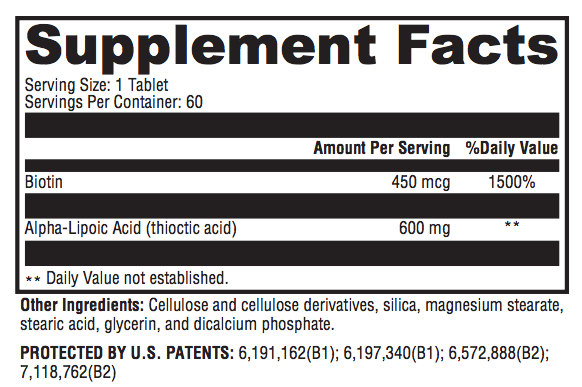 Alpha-Lipoic Acid CR - Inspired Health Apothecary - Glucose, Insulin, Diabetes, PreDiabetes, Antioxidant