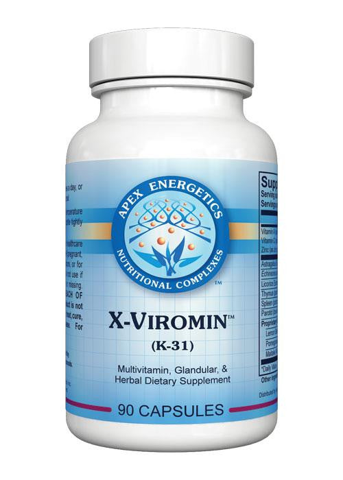 X-Viromin (K-31) - Apex Energetics - Inspired Health Apothecary - Flu, Virus, Antiviral