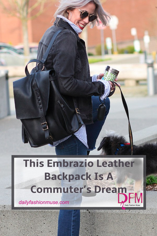 This Embrazio Leather Backpack Is A Commuter's Dream