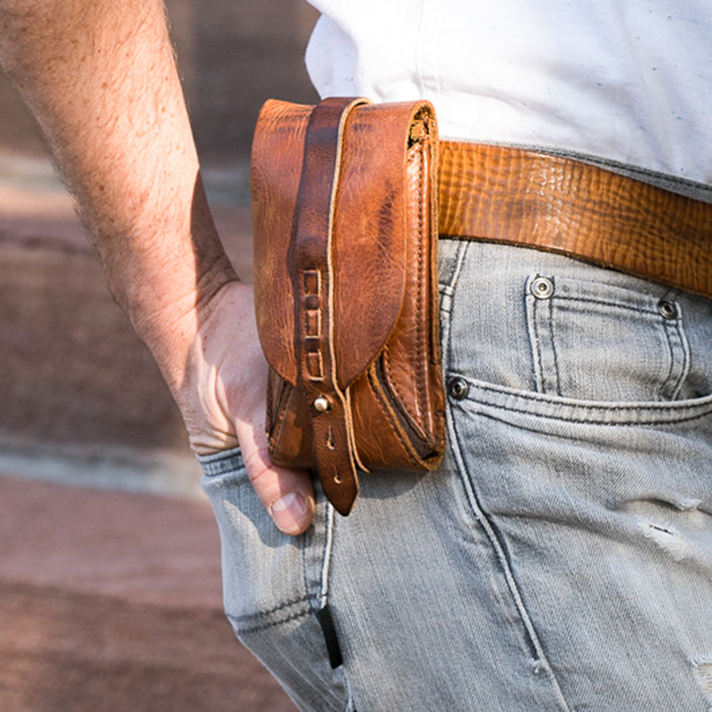 Handmade Genuine Leather Phone Holsters For Your 7+...the evolution