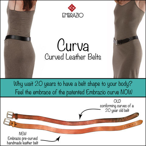 Embrazio Handmade Curved Leather Belt