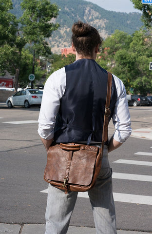 Impressa Genuine Leather Messenger Bag