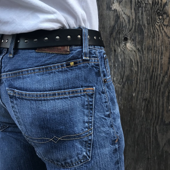 Curved Leather Belt