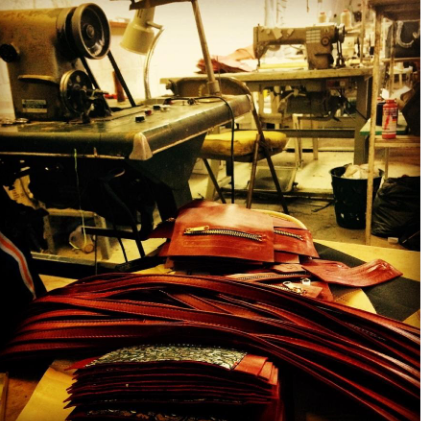 leather handbag construction